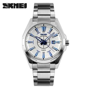 SKMEI Casual Men Stainless Strap Watch Water Resistant 30m - 9118CS ...