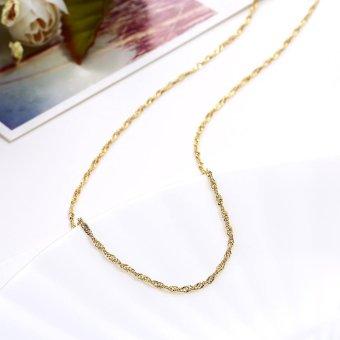 Chain Necklace LKN18KRGPC023-18 Aksesoris Perhiasan Kalung Rantai Lapis Emas .