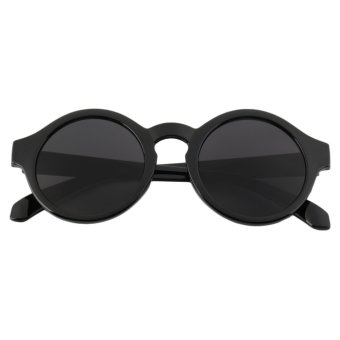 Harga OH Unisex Vintage Retro Women Men Glasses Vintage Round Mirror Lens Sunglasses Black