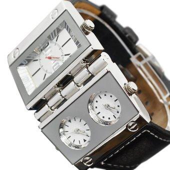 Gambar Produk Oulm Replicate Dial Quartz Hours Men Bussiness Sport Wrist Watch Three Time Display (