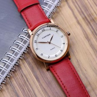 Harga Cartier-Jam Tangan Wanita Casual France Design Water Resistant - Leather Strap Roi des Joailliers