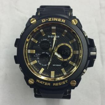 D-ziner Original - DZ 22015 - Jam Tangan Pria - Dual Time - Strap