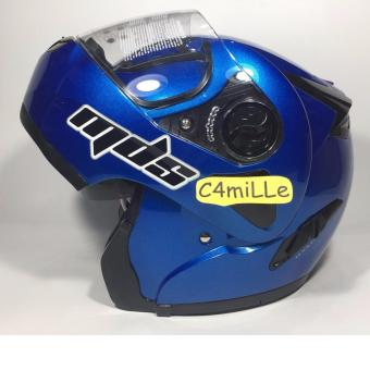 Harga HELM MDS PRO RIDER SOLID CY BLUE MODULAR FULL