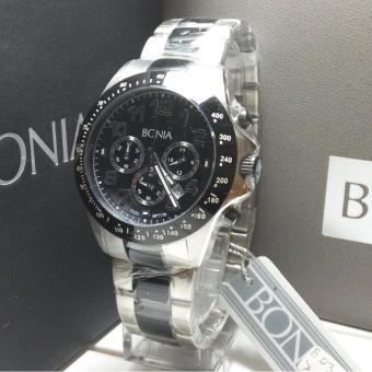 Bonia Jam Tangan Pria Bonia BPT176-1334C Silver Black Stainless Steel