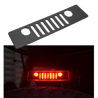 3rd Brake Light Cover Matte Black Grille For Jeep Wrangler JK 07-16 - intl ...