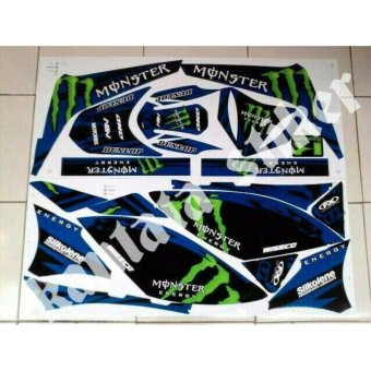 Harga Stiker Striping Motor Klx Monster Biru