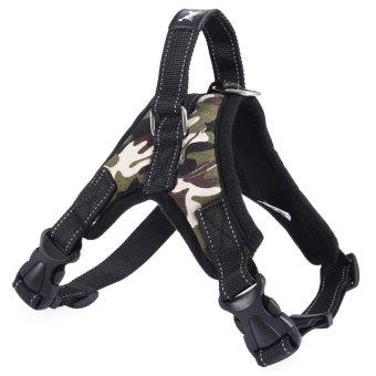 TAILUP Soft Nylon Adjustable Pet Outdoor Harness Collar Vest Strap for Medium Large Dog - intl ...