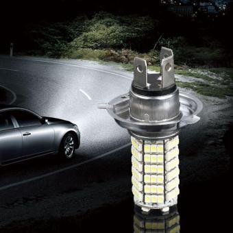 O mobil 120 memimpin 3528 SMD H4 putih kabut cahaya lampu bohlam lampu besar mobil parkir