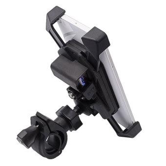 BolehDeals Ponsel GPS Sepeda Motor Gunung Piala Suction USB Handphone Charger Pemegang Magnetik .