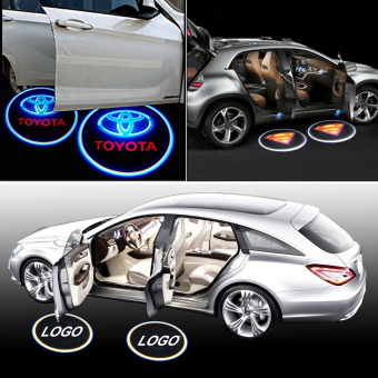 Harga 4Pcs Car Door Projector Welcome Lights for (Toyota+SUPERMAN) - No Drilling Required - intl