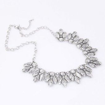 Cocotina Womens Crystal Statement Bib Collar Pendant Chain Choker Necklace Party Jewellery Silver