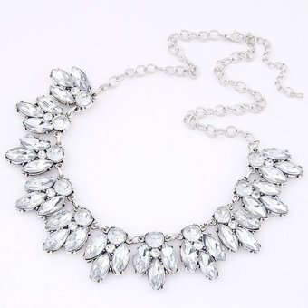 ... Cocotina Womens Crystal Statement Bib Collar Pendant Chain Choker Necklace Party Jewellery Silver