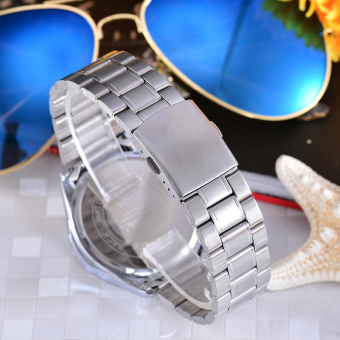Cenozo JamTangan Pria Body Silver White Dial Stainless Stell Band CNZ RT 8063A . Source .
