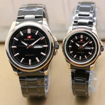 Swiss Army Couple Watch - black gold - Stainless - Swiss Army SA 5088 COUP SS