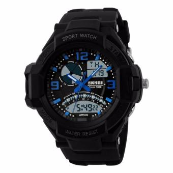 Harga SKMEI Casio Men Sport LED Watch Water Resistant 50m Jam Tangan Sport Casio AD1017 - Hitam