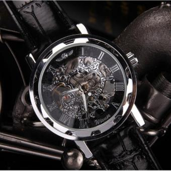 Harga Winner Genuine Hollow Mechanical Watches Men's Business Casual Automatic Mechanical Watch - intl