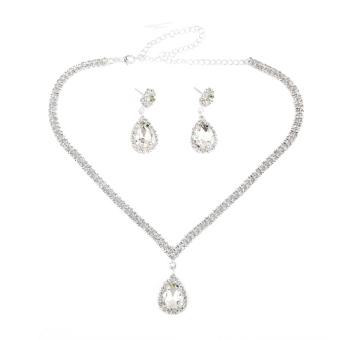 Harga Titik Air Mata Berlian Imitasi Kalung Perhiasan Anting Anting Yang Ditetapkan Pihak .