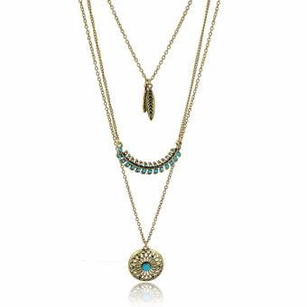 Harga Kalung Vintage -Long Bohemian Gold plated Beads Necklaces & Pendants Vintage