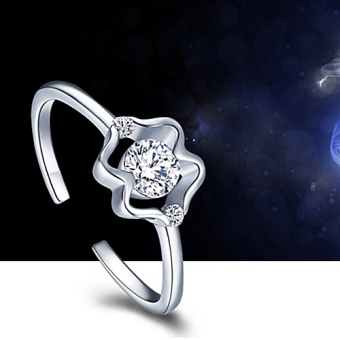 Harga Amart Twelve Constellation Ring 925 Silver Plating Adjustable Jewelry Ring(Gemini) - intl