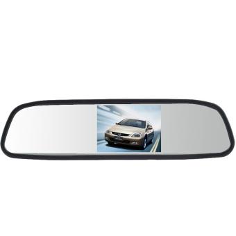 New 4.3 inci LCD monitor terbalik TFT warna cermin kaca spion mobil otomotif DVD cadangan -