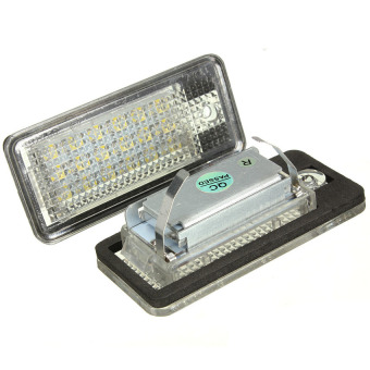Harga HDL 18 LED License Number Plate Light Lamp For Audi A3 S3 A4 S4 B6 B7A6 S6 A8 Q7 - Intl