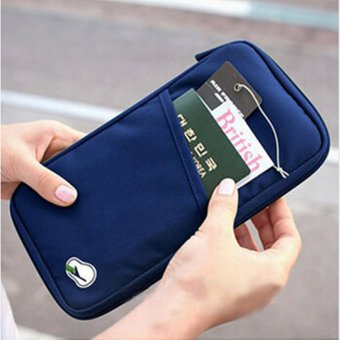 Harga Multifunction Memory Card Organizer Carrying Pouch Wallet Purse Storage Bag Navy Blue - intl