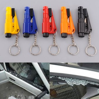 Mini 3 in 1 Car Emergency Hammer Belt Glass Breaker Cutter Key rescue .