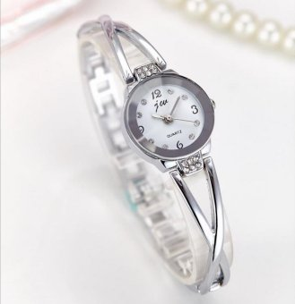 Harga CE is the brand wholesale strip watch fashion ladies watch female student student bracelet table personalized fashion quartz watch fashion single product watch selling single product round silver dial white watch - intl