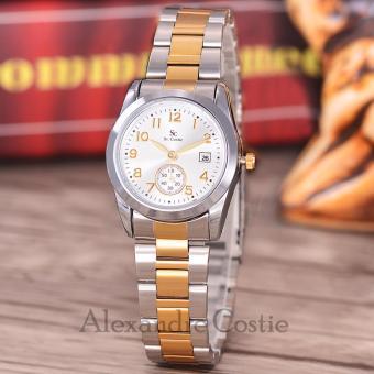 Saint Costie Original Brand Jam Tangan Wanita Body Silver Gold White Dial .