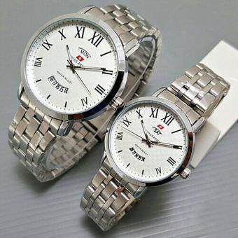 Swiss Army - Jam Tangan Pasangan / Couple - Silver - Strap Stainless -SA-