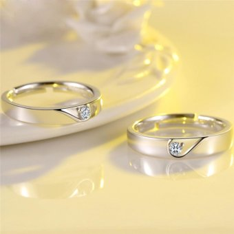 Bella & Co ANGEL HEART Couple Ring Cincin Tunangan Cincin Pernikahan Silver 925