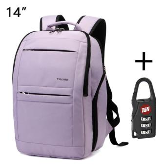 Harga Tigernu Anti-theft Waterproof School College Teenager Laptop Backpack for 10.1-14 Inches Laptop3152(Light purple)