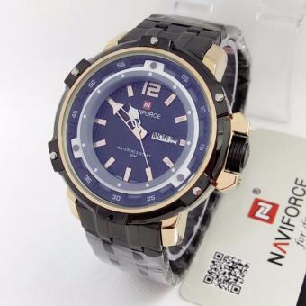 Naviforce - NF84210Z - Original - Jam Tangan Pria Formal - Rantai Stainless Steel Solid