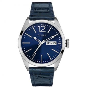 Guess W0658G1 VERTIGO - Jam Tangan Pria - Navy Blue - Leather - Case - Stainless