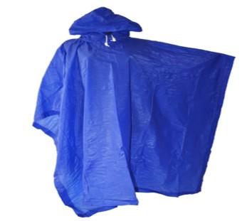 Premium Jas Hujan Ponco Tiger Head Polos - Biru .