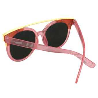 Cat Eye Sunglasses CAT 5019 Pink Motif - Kacamata Wanita - 3 .