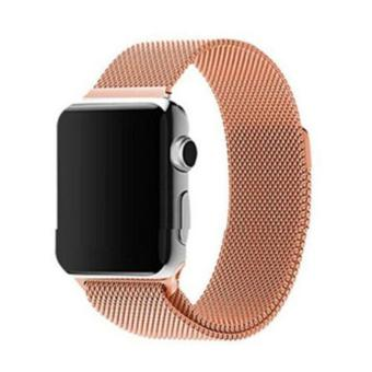 Harga GAKTAI Replacement Milanese Magnetic Loop Stainless Steel Strap Watch Bands For Apple Watch iWatch 42MM - Rose Gold - intl