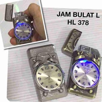Harga KOREK GAS MODEL JAM TANGAN BULAT LHL 378 WATCH LIGHTER MANCIS API