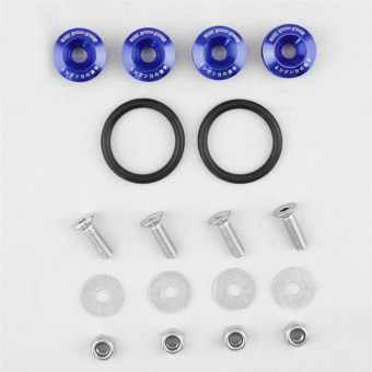 Harga USTORE Car Quick Release Fasteners Ideal For Front Bumpers Rear Bumpers With JDM Logo Blue - intl