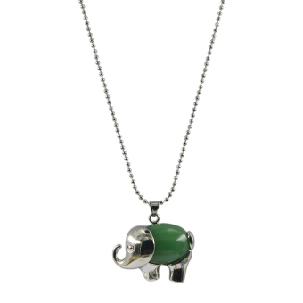 Beli Aventurine Necklace Store Marwanto606 Source · BolehDeals Penyembuhan Cakra Hijau Aventurine Gajah Batu Permata Liontin
