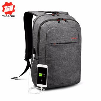 Harga Tigernu Anti-thief Backpack With External USB Charging interface for12-15inches Laptop3090(black gtey) - intl