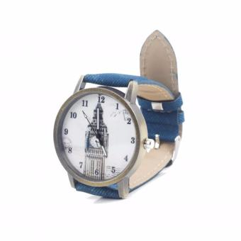 Harga Paroparoshop Vintage London Watch - Navy Blue