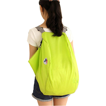 Harga Jo.In Folding Nylon Women Travel Bags Large Capacity Luggage Bags Backpacks Travel Bag (green)