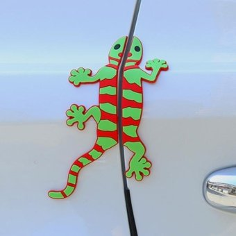 Harga 4 PCS PVC Gecko Shape Car Side Door Edge Protection Guards Cover Trims Stickers - intl