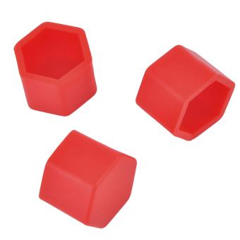 Sorak Merah 20 buah 19 mm silikon berongga bersegi enam mobil hub roda