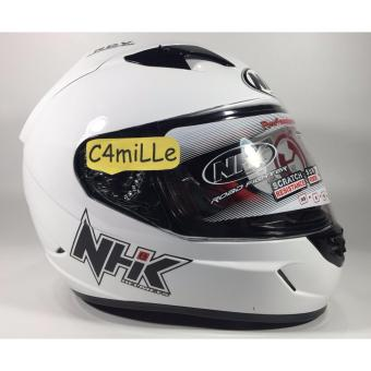 Harga Helm NHK GP1000 white double visor