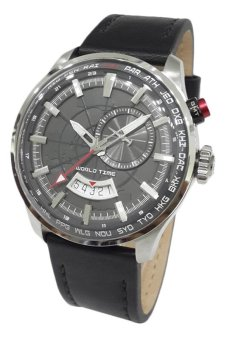 Harga Alexandre Christie World Time 6417MFLSSBA Jam Tangan
