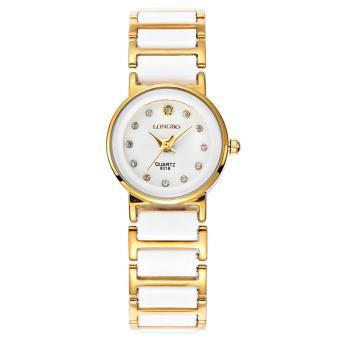 LONGBO Wanita Tahan Air kemewahan Hitam Square jam keramik jam tangan  kasual bisnis beberapa perhiasan kuarsa 3b1d87079e