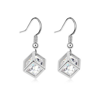 Harga Han edition Zircon earrings square