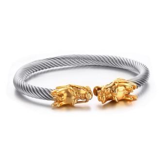 Totem Timur Kuno Berbentuk Naga Gelang Elastik Dapat Disesuaikan Kabel Terpilin Manset Gelang .